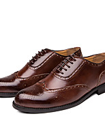 cheap -Men's Summer / Fall Classic / Casual Party & Evening Office & Career Oxfords Faux Leather Non-slipping Wear Proof Black / Brown