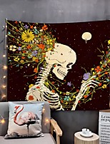 cheap -Home Living Tapestry Wall Hanging Tapestries Wall Blanket Wall Art Wall Decor Flower Skull Tapestry Wall Decor