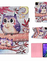 cheap -Case For Apple iPad Pro 11''(2020) / iPad 2019 10.2 / Ipad air3 10.5' 2019 Wallet / Card Holder / with Stand Full Body Cases Purple Owl PU Leather / TPU for iPad Air / iPad 4/3/2 / iPad (2018)