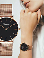 cheap -Women's Quartz Watches Casual Fashion Rose Gold Alloy Chinese Quartz White Black Casual Watch Large Dial 1 pc Analog One Year Battery Life