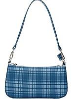cheap -Women's Cotton Top Handle Bag 2020 Lattice White / Blue / Red