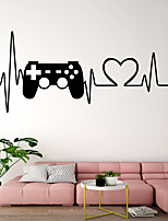 cheap -ECG Game Handle Wall Stickers Plane Wall Stickers Decorative Wall Stickers PVC Home Decoration Wall Decal Wall Decoration 1pc