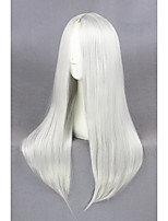 cheap -Cosplay Wig Cosplay Cosplay Straight Cosplay Halloween Middle Part Wig Long Silver Synthetic Hair 23 inch Women's Anime Cosplay Soft Silver
