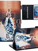 cheap -Case For Apple iPad Mini 3/2/1 / iPad Mini 4 / iPad Mini 5 Wallet / Card Holder / with Stand Full Body Cases Cat PU Leather / TPU