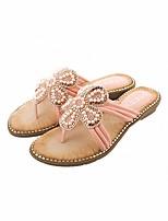 cheap -Women's Slippers & Flip-Flops Summer Flat Heel Open Toe Daily Synthetics White / Black / Red