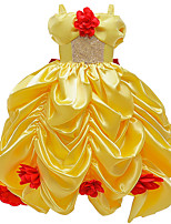 cheap -Princess Belle Dress Flower Girl Dress Girls' Movie Cosplay A-Line Slip Yellow Dress Carnival Children's Day Masquerade Polyester