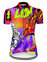 cheap -21Grams Women's Short Sleeve Cycling Jersey Nylon Polyester Black / Red Dragon Funny Astronaut Bike Jersey Top Mountain Bike MTB Road Bike Cycling Breathable Quick Dry Ultraviolet Resistant Sports