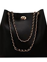 cheap -Women's PU Bag Set Bag Sets Solid Color 2 Pieces Purse Set Black / Khaki / Brown