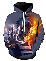 cheap -Inspired by My Hero Academia Boko No Hero Cosplay Costume Hoodie Terylene Print Printing Hoodie For Men's / Women's