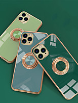 cheap -Case For Apple iPhone 7/8/7P/8P/X/XS/XR/XS Max/11/11 Pro/11 Pro Max/SE 2020 Shockproof / Plating / Ring Holder Back Cover Solid Colored TPU