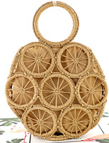 cheap -Women's Hollow-out Straw Top Handle Bag Straw Bag Solid Color Brown / Beige / Fall & Winter