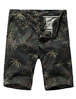 "cheap -Men's Hiking Shorts Hiking Cargo Shorts Camo Summer Outdoor 10"" Standard Fit Breathable Quick Dry Front Zipper Sweat-wicking Cotton Shorts Bottoms Army Green Blue Khaki Hunting Fishing Climbing 29 30"
