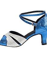 cheap -Women's Dance Shoes Latin Shoes Heel Cuban Heel Blue / Performance