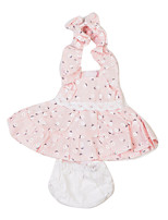 cheap -Reborn Baby Dolls Clothes Reborn Doll Accesories Cotton Fabric for 10-11 Inch Reborn Doll Not Include Reborn Doll Princess Skirt Flower Soft Pure Handmade Girls' 3 pcs