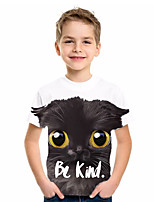 cheap -Kids Boys' Basic Animal Print Short Sleeve Tee Black