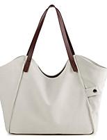 cheap -Women's Canvas Top Handle Bag 2020 Color Block White / Sky Blue / Gray