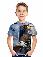 cheap -Kids Boys' Basic Animal Short Sleeve Tee Blue
