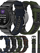 cheap -Nylon Watch Band for Garmin Fenix 5 / Fenix 5 Plus Quick Release Band Canvas Strap for Garmin Fenix 6 / Fenix 6 Pro / Fenix 5 / Fenix 5 Plus