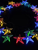 cheap -7M 30 LED Solar Starfish for Christmas Party Festival Indoor Outdoor Decoration