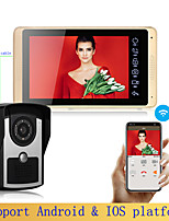 cheap -7 Inch Wire & WIFI Vidoe Doorbell Monitor with WIFI Function Home Security Intercom System Unlock P618FC11