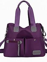 cheap -Women's Zipper / Chain PU Leather Top Handle Bag 2020 Solid Color Wine / Black / Blue