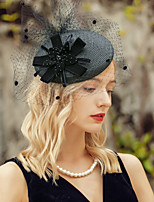 cheap -Headwear Elegant Polyester Hats with Floral 1pc Special Occasion / Party / Evening Headpiece