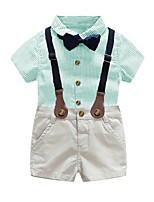 cheap -Kids Boys' Basic Striped Short Sleeve Clothing Set Blue