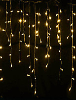 cheap -4m*0.6m Curtain String Lights 144 LEDs With 8-Mode Memory Controller Warm White Waterproof Engineering Outdoor Decorative Garden Decoration Lamp 220-240 V 1 set