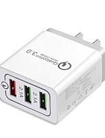 cheap -4 Port Quick Charge 3.0 Fast Mobile Phone Charger EU / US Plug Wall USB Charger Adapter for Smart Devices 3 Colors
