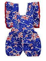 cheap -Baby Girls' Basic Flag Sleeveless Romper Navy Blue