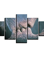 cheap -Abstract Kiss Love Pictures 5 Panels Canvas Paintings Wall Art Stretched Prints and Poster for Bedroom Home Decor Interior