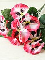 cheap -5 Fork Pansy Creative Home Decoration Silk Flower Artificial Flower Artificial Plant H26cm,Flower petal D7cm