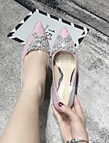cheap -Women's Heels Summer Stiletto Heel Pointed Toe Daily PU Pink / Silver