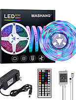 cheap -MASHANG Bright RGBW LED Strip Lights 5M RGBW Tiktok Lights 1170LEDs SMD 2835 with 44 Keys IR Remote Controller and 100-240V Adapter for Home Bedroom Kitchen TV Back Lights DIY Deco