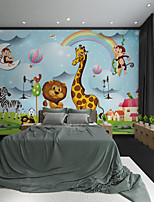 cheap -Custom Self Adhesive Mural Cartoon Animal Giraffe Suitable for Background Wall Coffee Shop Hotel Wall Decoration Art  Home Decoration