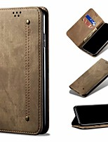 cheap -Case For Samsung Galaxy Samsung Galaxy A20 / Galaxy A71 / Galaxy A51 Wallet / Card Holder / Flip Full Body Cases Solid Colored PU Leather