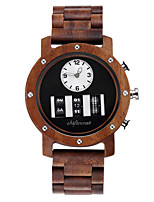 cheap -Men's Sport Watch Japanese Quartz Modern Style Stylish Wood Wooden Analog Casual Fashion - White Black Brown