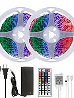 cheap -MASHANG 32.8ft 10M LED Strip Lights RGB SMD 2835 Tiktok Lights 600LEDs SMD 5050 with 44 Keys IR Remote Controller and 100-240V Adapter for Home Bedroom Kitchen TV Back Lights DIY Deco