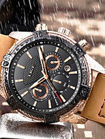 cheap -LIGE Men's Sport Watch Quartz Modern Style Sporty Leather Water Resistant / Waterproof Noctilucent Analog Casual Outdoor - Black Brown / Stainless Steel
