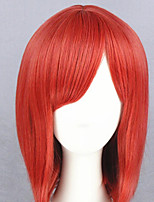 cheap -Cosplay Wig Nishikino Maki Love Live Straight Cosplay Asymmetrical With Bangs Wig Short Red Synthetic Hair 16 inch Women's Anime Cosplay Exquisite Red