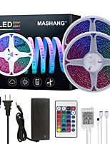 cheap -MASHANG 32.8ft 10M LED Strip Lights RGB Tiktok Lights Waterproof 600LEDs SMD 5050 with 24 Keys IR Remote Controller and 100-240V Adapter for Home Bedroom Kitchen TV Back Lights DIY Deco