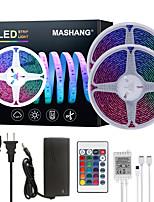 cheap -MASHANG 32.8ft 10M LED Strip Lights RGB Tiktok Lights Waterproof SMD 2835 600LEDs SMD 5050 with 24 Keys IR Remote Controller and 100-240V Adapter for Home Bedroom Kitchen TV Back Lights DIY Deco