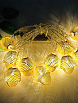 cheap -3M 20LEDs Creative Hazelnut Acorn LED String Light Three Section 5th Battery-Powered Fairy Lights Christmas Wedding Garden Party Family Party Room Decoration Pendant Without Battery
