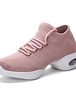 cheap -Women's Latin Shoes / Jazz Shoes / Dance Sneakers Mesh / PU / Synthetics Flat / Sneaker Flat Heel Dance Shoes White / Black / Pink