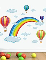 cheap -Rainbow  Wall Stickers Plane Wall Stickers Decorative Wall Stickers PVC Home Decoration Wall Decal Wall Window Decoration 1pc