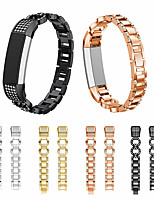 cheap -Watch Band for Fitbit Alta Fitbit Classic Buckle Stainless Steel Wrist Strap