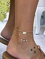 cheap -Women's Ankle Bracelet Anklet Jewelry Gold For Holiday