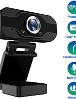 cheap -1080P Full HD Webcam with Microphone USB Web Camera Streaming Computer Camera for Windows Mac PC120 Degrees Wide-Angle 30fps Large Sensor Superior Low Light for Video Calling Conferencing Gaming