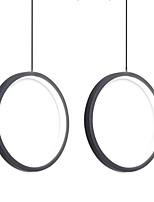 cheap -2pcs/lot Dia40 cm LED20W Mini Pendant Light Aluminum Circle / Mini Painted Finishes Black White Frame for Living Bed Dinning Room Modern 110-120V / 220-240V