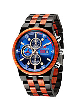 cheap -Men's Sport Watch Quartz Modern Style Stylish Steampunk Calendar / date / day Wood Analog - Black Red Brown / Noctilucent